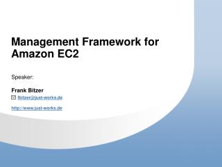 Management Framework for Amazon EC2