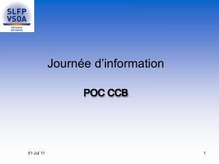 Journ�e d�information POC CCB