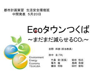 都市計画実習 生活安全環境班 中間発表 5月20日