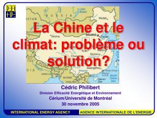 La Chine et le climat: problème ou solution?