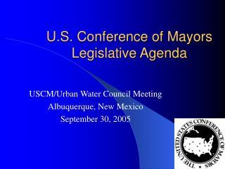 U.S. Conference of Mayors Legislative Agenda