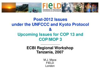 ECBI Regional Workshop  Tanzania, 2007 M.J. Mace FIELD London