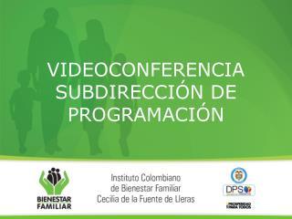 VIDEOCONFERENCIA SUBDIRECCIÓN DE PROGRAMACIÓN