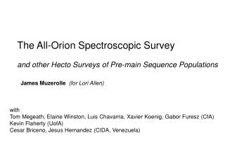 The All-Orion Spectroscopic Survey and other Hecto Surveys of Pre-main Sequence Populations