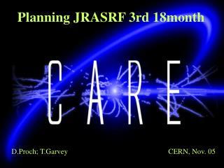 Planning JRASRF 3rd 18month