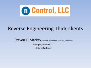 Reverse Engineering Thick-clients