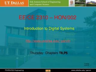 Erik Jonsson School of Engineering  and Computer Science