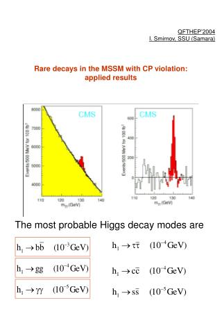 Rare decays in the MSSM with CP violation:  applied results