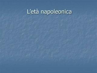 L et  napoleonica