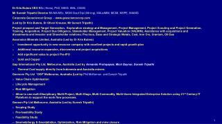 Dr Kris Butera CEO  BSc ( Hons ), PhD, MAIG  AML, CGSG