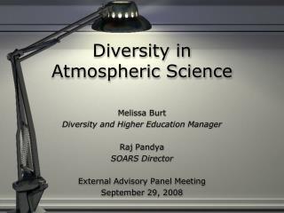 Diversity in  Atmospheric Science