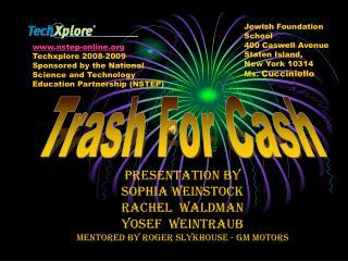 Presentation by Sophia Weinstock Rachel  Waldman Yosef  Weintraub