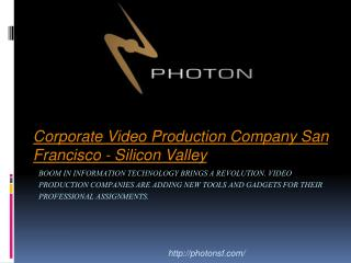 Motion Graphics Silicon Valley