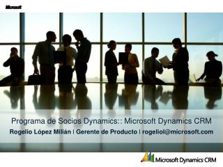 Programa  de  Socios  Dynamics: : Microsoft Dynamics CRM