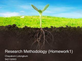 Research Methodology  ( Homework1 )