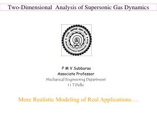Two-Dimensional  Analysis of Supersonic Gas Dynamics