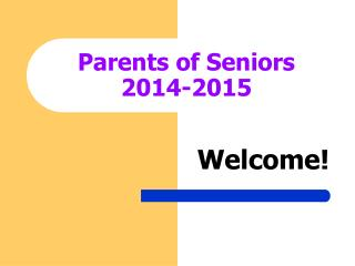 Parents of Seniors 2014-2015