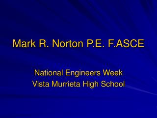 Mark R. Norton P.E. F.ASCE