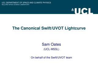 The Canonical Swift/UVOT Lightcurve