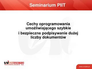 Seminarium PIIT