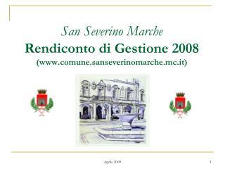 San Severino Marche Rendiconto di Gestione 2008  (comune.sanseverinomarche.mc.it)