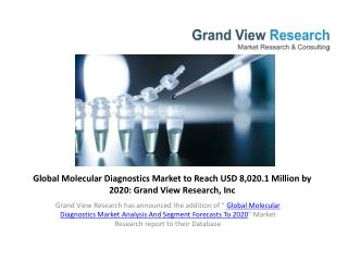 Molecular Diagnostics Market Forecast To 2020.