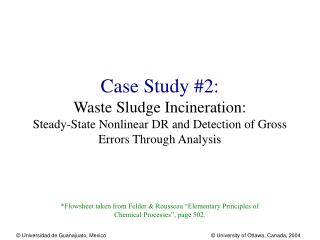 Case Study #2: Waste Sludge Incineration: