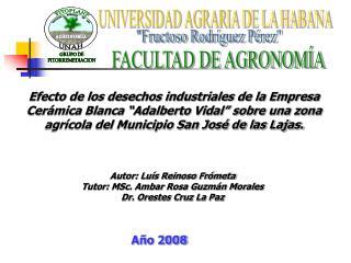 UNIVERSIDAD AGRARIA DE LA HABANA
