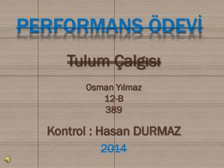PERFORMANS ÖDEVİ