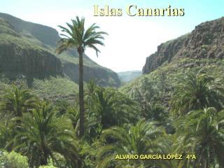 Islas Canarias ALVARO GARCÍA LÓPÈZ   4ºA