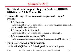 Microsoft DTS