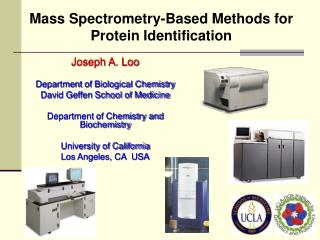 Mass Spectrometry-Based Methods for Protein Identification