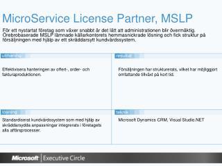 MicroService License Partner, MSLP