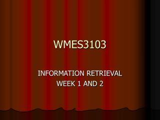 WMES3103