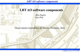 LBT AO software components