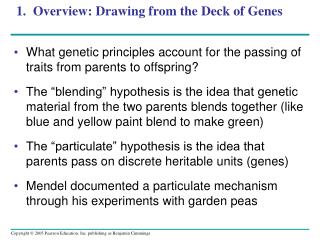 1.  Overview: Drawing from the Deck of Genes