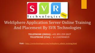 WebSphere Application Server Online Training And Placement B