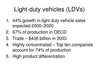 Light-duty vehicles LDVs