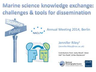 Marine  science knowledge  exchange:  challenges  & tools for dissemination