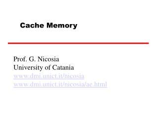 Prof. G. Nicosia University of Catania dmi.unict.it/nicosia dmi.unict.it/nicosia/ae.html