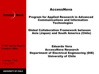 AccessNova    Program for Applied Research in Advanced Communications and Information Technologies   Global Collaboratio