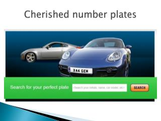 cherished number plates