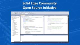 Solid Edge Community Open Source Initiative