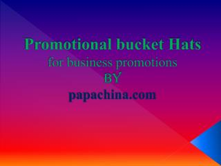 Promotional Bucket Hats, Custom Bucket Hats, Personalized Bu