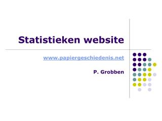 Statistieken website