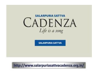 9019196393 | Salarpuria Sattva Cadenza Kudlu Gate Bangalore