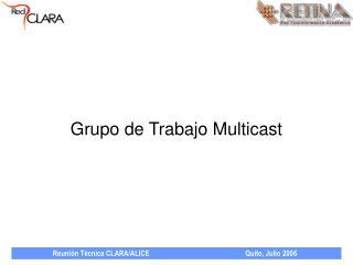 Grupo de Trabajo Multicast