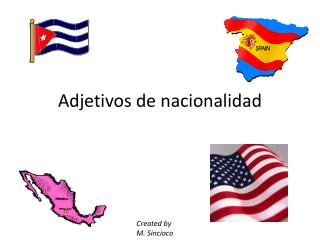 Adjetivos  de  nacionalidad