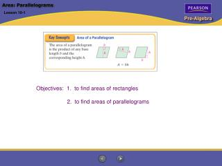 Area: Parallelograms