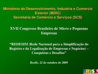 XVII Congresso Brasileiro de Micro e Pequenas Empresas